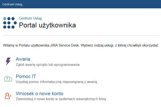Portal użytkownika Service Desk