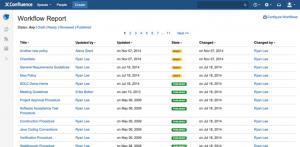 comala workflow reports